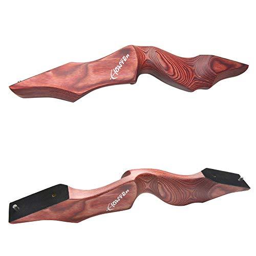 ZSHJG Recurvebogen RH Rechtshand Mittelteil Bogen Riser Holz Bogengriff Bogenschießen Holzbogen Riser Griff (Red)