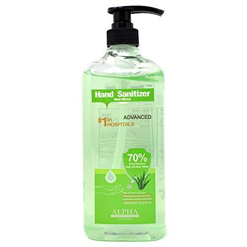 Petories Instant Hand Sanitizer, 70% Alcohol Based Enriched with Aloe & Vitamin E Hand Moisturizer - Antibacterial Gel Against Viruses, Germs & Bacteria - 33.8 oz bottle