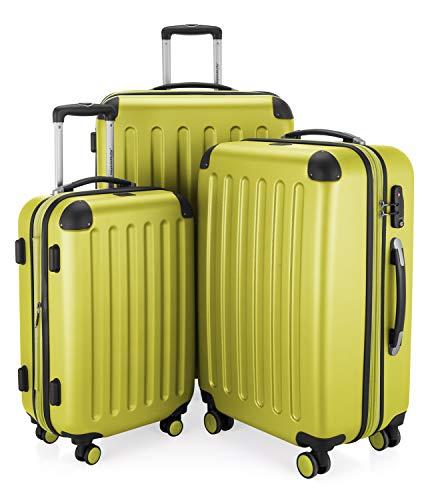 HAUPTSTADTKOFFER - Spree - 3er Koffer-Set Trolley-Set Rollkoffer Reisekoffer Erweiterbar, TSA, 4 Rollen, (S, M & L), Farn