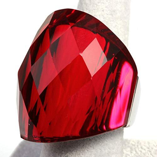 Anyeda Ring Damen Geometrisch Schmuck Edelstahl Damen Ringe Rot Ringgröße 57 (18.1)