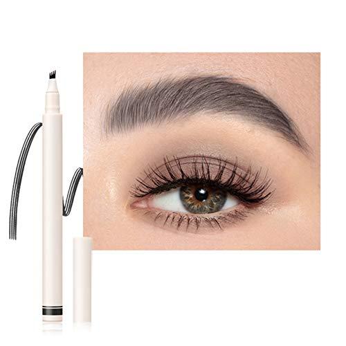 Stool Lasting Eyebrow Tattoo Pen Wasserdicht Professional Natural 4 Punkte Liquid Eye Brow Pencil 3D Microblading Augenbrauenstift Make-Up-Tool Zum Markieren Füllung Umriss,1