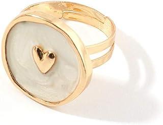 أنافويا فاشون مينيمال خاتم اصبع انافويا تألق الترباس نجم نجم دائرة دائرية مطلية بالذهب خواتم هدية للنساء الفتيات