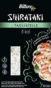 Bitters Shirataki Fit Pasta, fideos de forma Tagliatelle, sin gluten, paquete de 4 x 390 gr