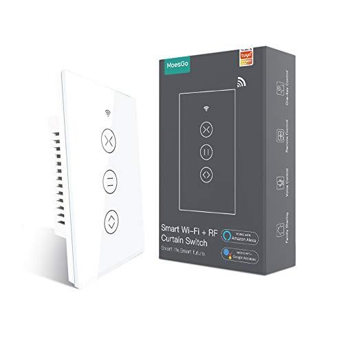 MoesGo WiFi RF433 Smart Touch Panel Curtain Blinds Roller Shutter Switch Backlight Switch Wireless...