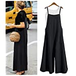 YESNO Women Casual Cropped Bib Pants Wide Leg Jumpsuits Rompers Overalls/w Pockets PZZ