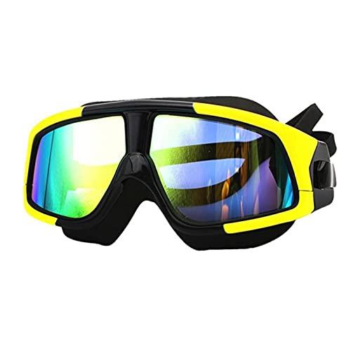 JKLO Natación Gafas de Silicona Marco Gafas de natación Gafas a Prueba de Agua Anti-Niebla UV con Caso 910 (Color : Blue, Size : 166x60mm)