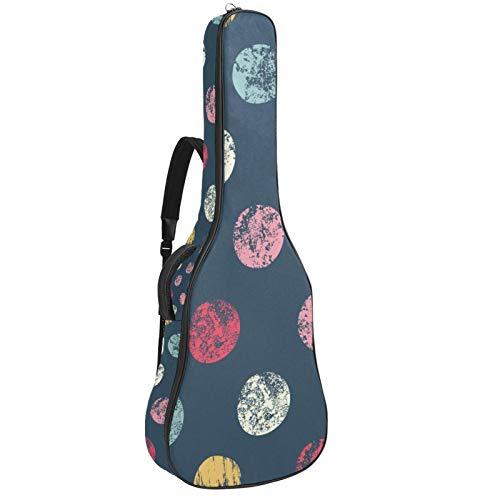 Acoustic Guitar Bag Polka Dot Adjustable Shoulder Strap Guitar Case Gig Bag 40 41 42 Inch