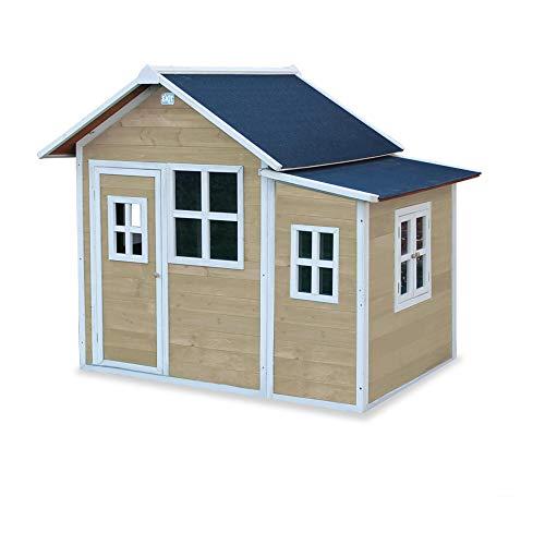EXIT Loft 150 natur / Spielhäuschen mit Tür + 5 Fenstern / Material: Zedernholz / Maße: 118 x 171 x 160 cm / 77,5 kg / für Kinder ab 3
