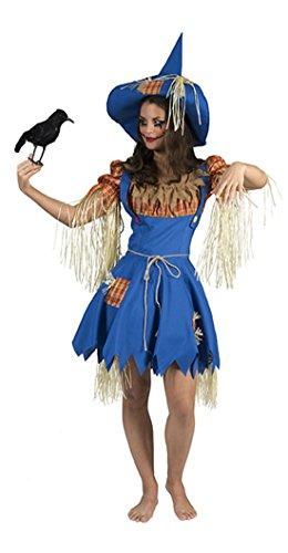 Halloweenia - Damen Halloween Karneval Kostüm Gärtnerin Set, Vogelscheuche, XL, Mehrfarbig