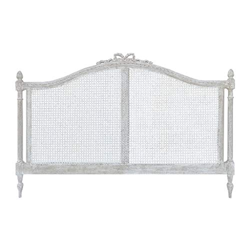 Blanc Mariclo Cabezal para cama de matrimonio de madera blanca 180 x 120 cm A30520