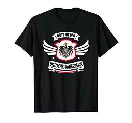 Deutsches Kaiserreich Gott Mit Uns Reichsflagge Reichsadler T-Shirt