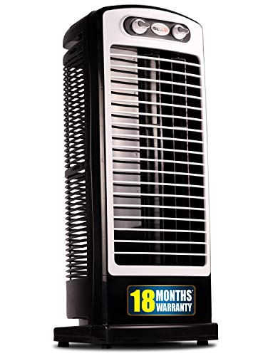 iBELL Prime Tower Fan with 25 Feet Air Delivery, 4-Way Air Flow, High Speed,Anti Rust Body (Black)