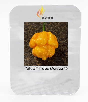Heirloom Jaune Trinidad Moruga Scorpion Chili Pepper Seeds, Professional Pack, 10 graines / Paquet E3230