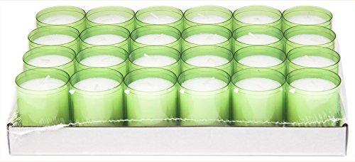 Sovie Refill Kerzen 24 kiwigrüne Teelichter mit extra Langer Brenndauer (24h) für Feiern/Party/Gastronomie