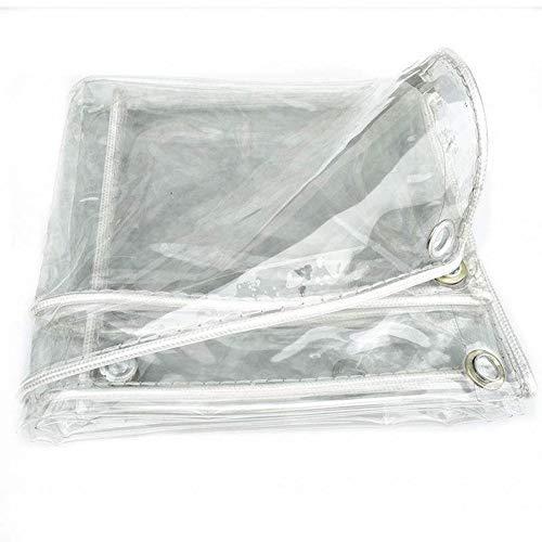 XXIOJUN Lonas Impermeables Exterior, Cubierta Protectora De La Hoja De Tierra del Gazebo Al Aire Libre De La Lona A Prueba De Polvo Transparente De 0.3mm, con Ojales Reforzados