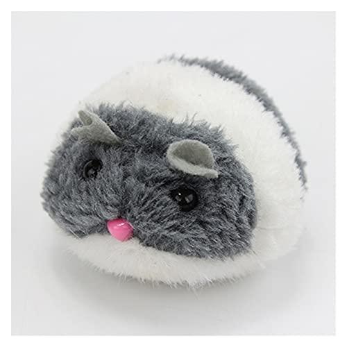 LIAZNGNA Juguete de gato 1 pieza de peluche juguetes divertidos para perros, movimiento de agitación, ratón, gatito, gato, juguete interactivo para suministros para mascotas (color: gris)