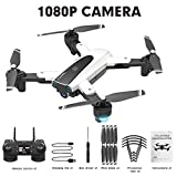 iBellete WiFi FPV Drone con cámara 1080P / 4K HD, Drone y cámara de Video en Vivo GPS HJ18 1080P 4k Drone HD WiFi FPV Flying Drone Set