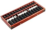 AINIYF Calculadora, Oficina Electrónica Abacus Tradicional China Calculadora 10 '' Estilo de época de madera 13 Bacus velocidad de 13 bits de madera sólida Abacus segundo grado 7-Bead Abacus for Niños