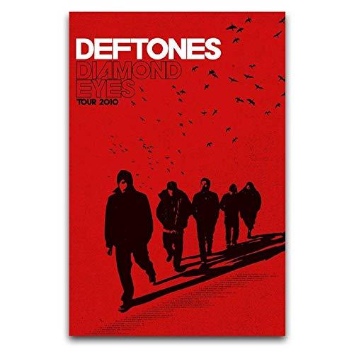 Deftones (Diamond Eyes Tour) 2010 Art mural sur toile, décoration murale artistique moderne, sans cadre, décoration murale pour poster, peinture décorative sur toile pour salon, chambre à coucher