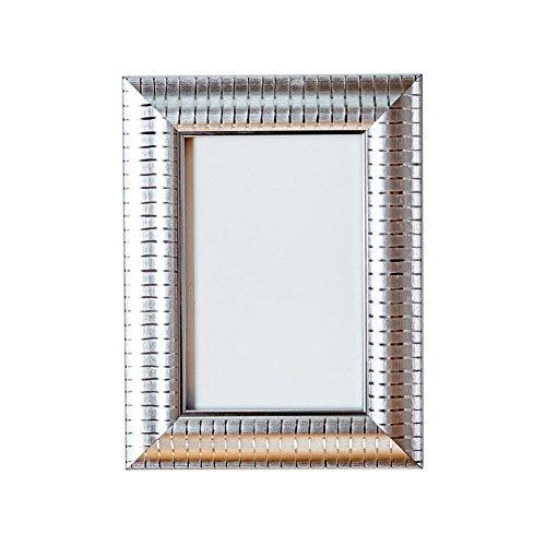 Cadre Photo décoratif Shabby Chic - avec Dos en MDF - Prêt à Poser - avec Une Feuille de plexiglas incassable en styrène Haute clarté - Argenté - 40,6 x 30,5 cm