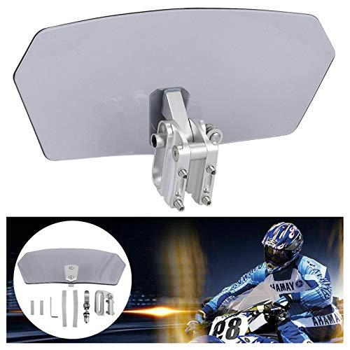 Riloer Clip regolabile sul deflettore di sfiato dello spoiler di estensione del parabrezza universale del motociclo (trasparente trasparente)