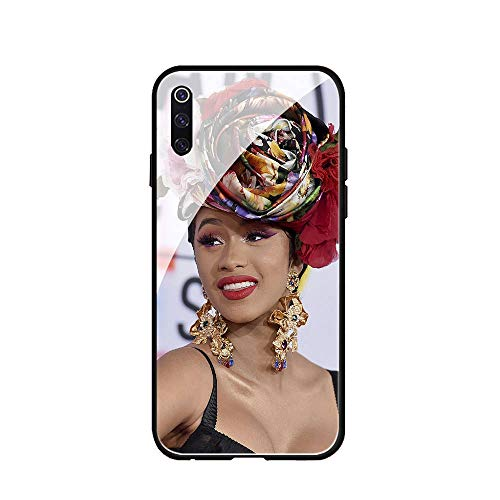 RUIWEI Phone Case Galaxy S8,RWNO-203 CardiB Cardi B Tempered Glass Design Pattern and Soft Silicone Rubber Bumper Frame for Scratch-Resistant and Anti-Scratch Absorption