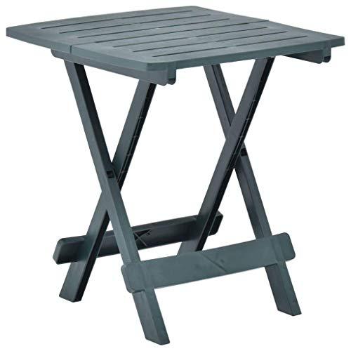 Qazxsw Mesa de jardín Plegable Mesa de Centro Pequeña Mesa de Comedor Diseño de Listones para terraza de Patio