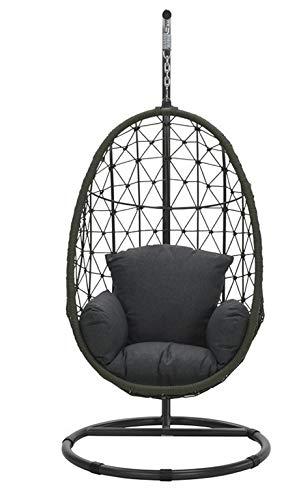 Garden Impressions Panama stoel, mosgroen/zwart reflexen