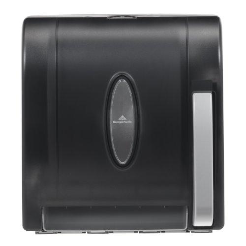 Universal Push-Paddle Hardwound Paper Towel Dispenser by GP PRO (Georgia-Pacific), Smoke, 54338, 12.50