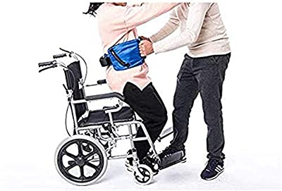 Medical Transfer Gait Belt for Patient Lifts, Physical Therapy Belt Strap with Metal Buckle, Gait Assist Device Elderly Care Lifts Transfer Belt