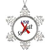 DoreenAbe 3' Ornament, Metal Snowflake Ornament, Tree Branch Decoration 1 Year Red Ex-Smoker Large Christmas Snowflake Ornaments Year Keepsake Gift Home Decor