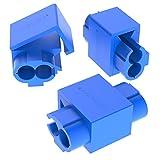AUPROTEC 25x Rubacorrente 0,75-2,5 mm² blu Morsetti Ruba Corrente Connettori Rapidi Isolati PP Ottone Stagnato Terminali per Cavi Fili Elettrici