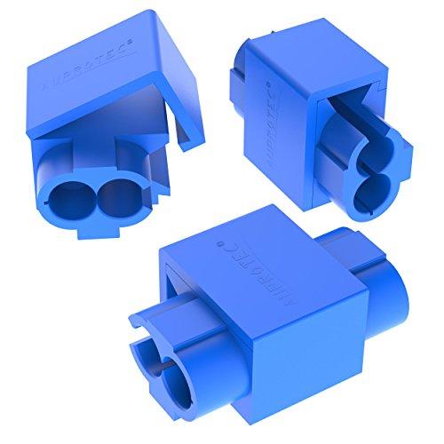 AUPROTEC 50x Kabelabzweiger 0,75-2,5 mm² blau Abzweigverbinder Schneid-Klemmverbinder aus Messing verzinnt PP vollisoliert