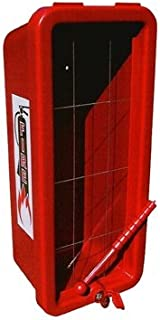 CATO 11051-H Red Plastic Chief Fire Extinguisher Cabinet for 10 lb. Extinguisher, with Hammer and Cylinder Lock