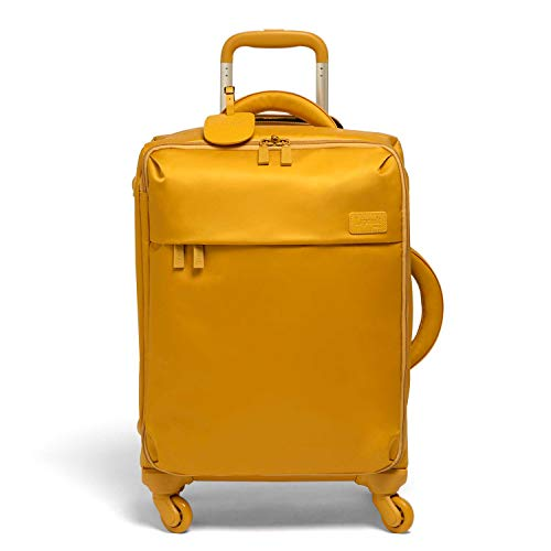 Lipault - Original Plume Spinner 55/20 Luggage - Carry-On Rolling Bag for Women - Mustard