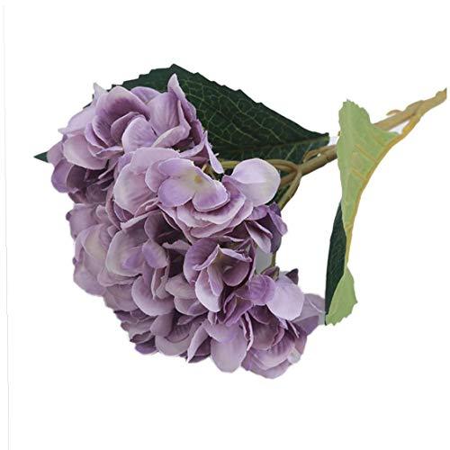Künstliche Hortensien, 12 Köpfe, lila...
