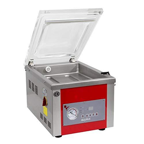 Vakuumiergerät mit Kammer KV 265 - Vakuumpumpe: 8 m³/h - 99% Vakuum - Kammermaße (LxBxH): 360x282x100 mm