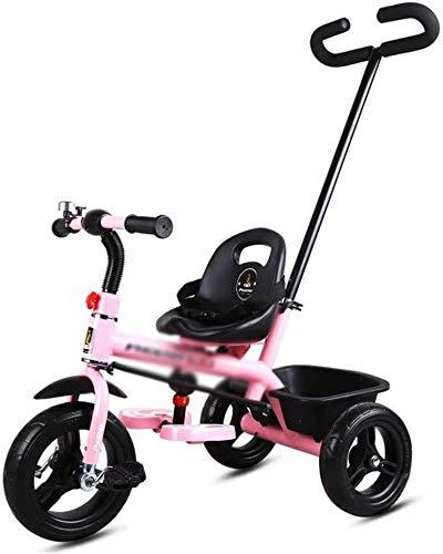 Fahrrad JYetzxc Fahrräder Indoor Heimtrainer Außen Tricycle Multifunktionsfahrrad 2-3-5 Einjahresschätzchen Kinderwagen (Farbe: Rosa, Größe: 74x47x60cm) (Color : Pink, Size : 74x47x60cm)