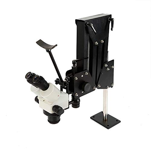 BoTaiDaHong Micro Inlaid Mirror Spring Stand Multi-Directional Jewelry Processing Tools 220V 85mm Jewelry Tool Stereo Zoom Microscope Multi-Directional Micro-Setting