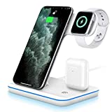 UNIGEN UNIDOCK 3-in-1 15W [Qi Certified] Fast Wireless Charging Station for iWatch Series 6/5/4/3/2;...