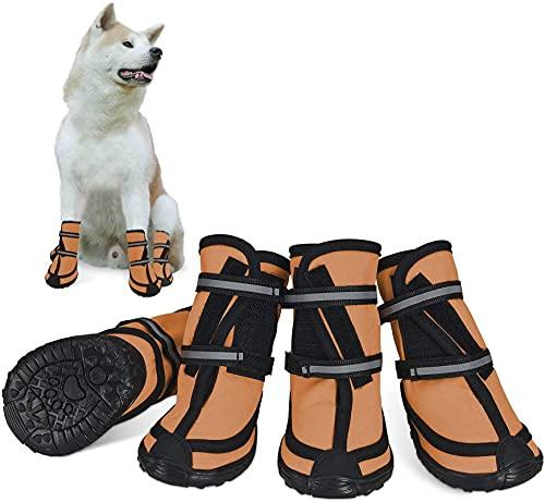 Electomania Botas protectoras para perros con suela suave y transpirable, correas ajustables, suela antideslizante, para deportes, correr, senderismo, mascotas, perros, botas