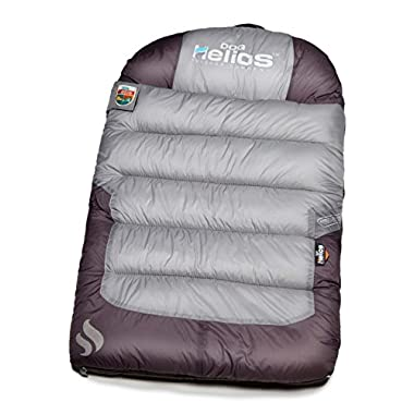 DOGHELIOS 'Trail-Barker' Multi-Surface Water-Resistant Travel Camper Sleeper Pet Dog Bed Mat w/BlackShark Technology, One Size, Light Grey, Dark Grey