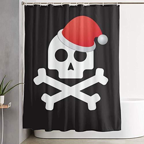 QYUESHANG Duschvorhang, isoliertes Piratenschädel-Symbol, Waschvorhang aus Waschbecken aus Polyester mit 12 Kunststoffhaken 180x180 cm