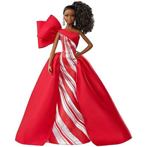 Barbie - Magia delle Feste 2019 Bambola Afroamericana con Coda da Collezione, Giocattolo per Bambini 6+ Anni, FXF02