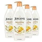 Jergens Nourishing Honey Dry Skin Moisturizer, 16.8 Ounces (Pack of 4), with Illuminating Hydralucence Blend, Skin Nourishing Formula, Dermatologist Tested (Packaging May Vary)