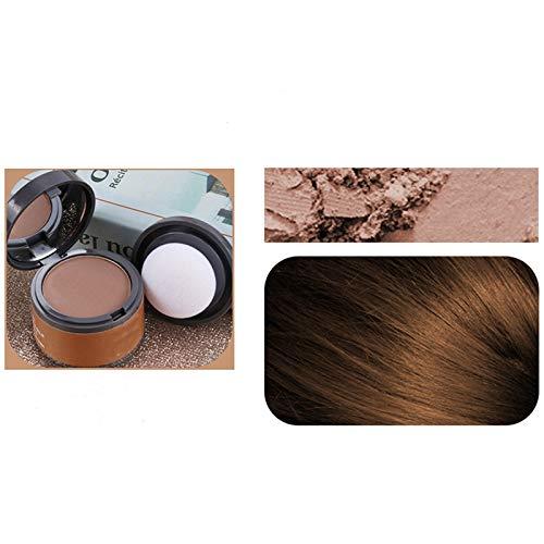 Sombra instantánea para el cabello, sombra en polvo para la línea del cabello, polvo de sombreado de volumen máximo para el cabello resistente al agua, corrector para el cabello (marrón claro)