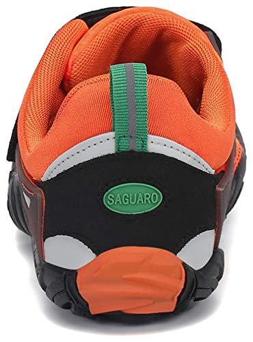 SAGUARO Barfußschuhe Herren Zehenschuhe Outdoor Traillaufschuhe Männer Straßenlaufschue Five Finger Schuhe St.2 Orange 44 - 7