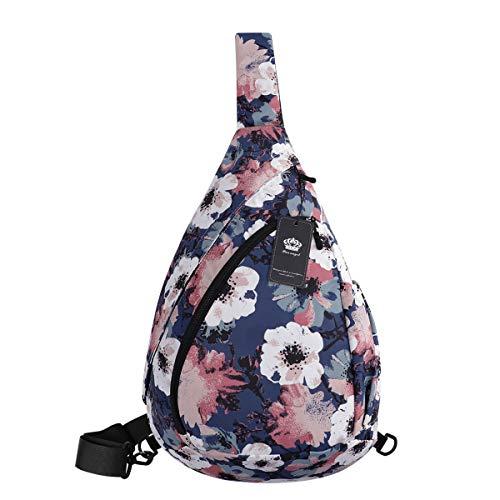 HUA ANGEL Crossbody Sling Bag for Men & Women-Fashion Chest Shoulder Daypack Casual Backpack for Travel Hiking Gym
