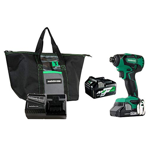 Metabo HPT 18V Cordless Impact Driver | Includes 2 Batteries 1 36V/18V Multivolt 50Ah amp 1 18V Compact 30Ah Battery | 1522 inlbs of Torque | Up to 3100 Rpm 3400 BPM | Brushless WH18DBFL2T