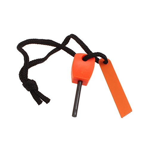 HCFKJ Outdoor Survival Magnesium Flint Scraper Stein Feuer Starter Feuerzeug (B)